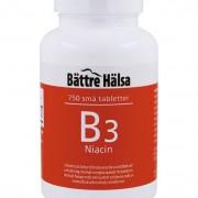 Bättre Hälsa B3 Niacin 10 mg 750 tabletter