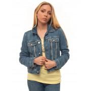 Guess Giubbino in jeans Denim chiaro Poliestere Donna