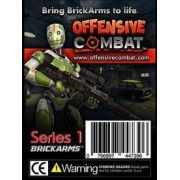 """BrickArms 2.5"""" Scale Weapon Pack Set of all 9 Offensive Combat Series 1 Weapons Black"""