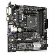 Дънна платка Asrock AB350M-HDV, B350, AM4, DDR4, 2x PCI-E (HDMI&DVI), 4x SATA 6.0 Gb/s, 1x M.2 Socket, 5x USB 3.1, mATX