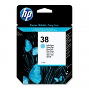 HP 38 Light Cyan Pigment Ink Cartridge (C9418A)