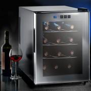 EEK: A(A+++-D) - Glas-Weinklimaschrank für 12 Flaschen, Rot und Weisswein, konstante Innentemperatur, 8-18 °C, Digitaldisplay, LED-Innenbeleuchtung, TÜV geprüft