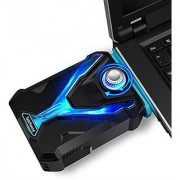 TekHome Super Vacuum Fan Laptop Cooler Cooling Gaming Mate High Compatibility w/ 4 Junction Shrouds Adjustable Wind Speed Reusable Tape Power Saving Make Your Laptop As Cool As A Cucumber.