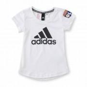 adidas T-shirt adidas blanc fille - 14-15A OL - Foot Lyon