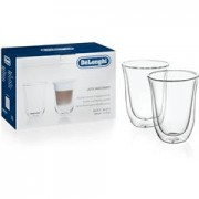 Delonghi ECAM45.760W Eletta Cappuccino Top Coffee Machine - 2 Double Walled Latte Macchiato Glasses