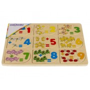 Puzzle lemn - Invatam sa numaram, 27 piese