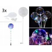 Lichtgevende LED Ballon Set - 3 Lamp Verlichting Feest Ballonen Party Cadeau Balloon - Groot