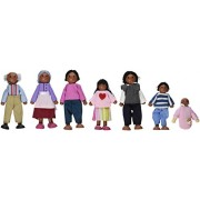 KidKraft Doll Family of 7 African American Variations, Multi Color