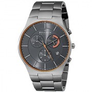 Skagen Analog Grey Round Mens Watch-SKW6076