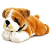 Keel Toys 30cm Laying Tan & White Butch Bulldog Dog Puppy Soft Plush Cuddly Toy