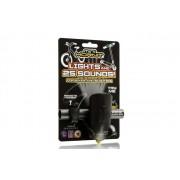 Claxon Mini Hornit cu lumina negru si galben