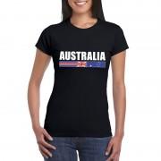 Bellatio Decorations Zwart Australie supporter t-shirt voor dames