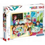 Puzzle Clementoni SuperColor Maxi: My classroom, 104 piese