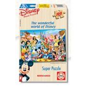 Puzzle lemn Minunata lume Disney, 100 piese