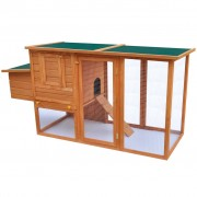 vidaXL Outdoor Chicken Cage Hen House with 1 Egg Wood