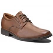 Обувки CLARKS - Tilden Plain 261300977 Dark Tan Leather