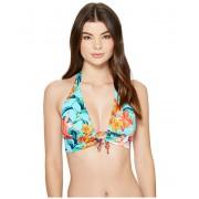 Tommy Bahama Floriana Halter Bikini Top With Loop True Turquoise