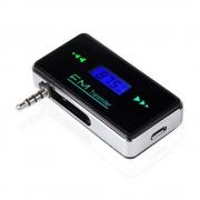 MP3 FM Transmitter 3,5 mm bármihez jó telefon laptop iphone ipad kihajthatós