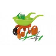 Höffner Schubkarre mit Gartenwerkzeug, 9-teilig Simba ¦ grün ¦ Kunststoff