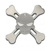 Skull and Bones Metall Fidget Spinner - Silverfärgad