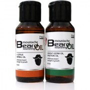 Combo Pack of Citrus Herbal and Wheat Germ Beard Oil