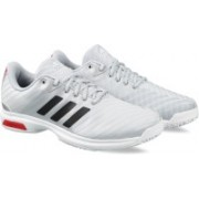 ADIDAS BARRICADE COURT OC Tennis Shoes For Men(Silver)