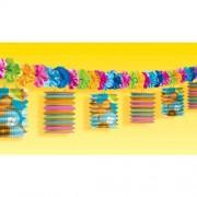 Partyrama Guirnalda Hawaiana Estilo Tiki con Flores para decoración de Fiesta Hawaiana