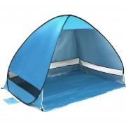 Plegable Libre Para Construir Automatic Velocidad Rapida Abrir Outdoor Camping Playa Tienda Con Bolsa De Transporte Para 2 Adultos Y 3 Niños, Tamaño: 2x1.2x1.3m (azul)