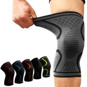 Fitness Running Cycling Knee Support Braces Elastic Nylon Sport Compression Pad Sleeve (Multi-Color) (Extra Large)