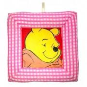 Tablou textil pentru perete Winnie the Pooh, carouri roz