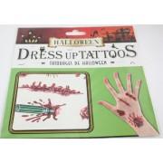 Halloween tetoválás, csavarhúzós