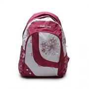 CHICBAE Stylish Girls Casual College School Backpack-Pink And White, Laptop Backpack