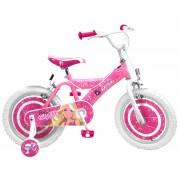 "Bicicleta pentru fetite 16"" cu cadru rezistent din otel si scaun ajustabil Barbie Stamp"