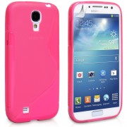 Hot Pink TPU S-Line Silicon Gel Case Cover Samsung Galaxy S4