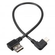 25 cm 90 Graden Schuine Mini Usb-kabel Mini USB naar USB 2.0 Data Sync Charger Kabel Voor MP3 MP4 GPS Camera HDD