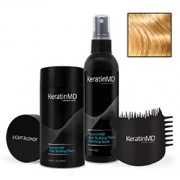 KeratinMD HAIR BUILDING FIBERS (Light Blonde) VALUE PACK