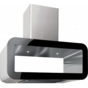 Hota design insula Pyramis CORSO 704mc/h 90cm touch control finisaj inox si sticla neagra