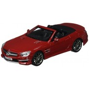Mercedes Benz Sl63 Amg Convertible, Red Maisto 31503 1/24 Scale Diecast Model Toy Car