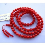 Natural Beads Mala Original Certified Stone Coral/Moonga Mala By Jaipur Gemstone