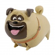 Jucarie plastic The Secret Life of Pets Mel, 13x9.5x7.5 cm, Bej