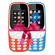 Combo of IKall K3310 (Dual Sim 1.8 Inch Display 800 Mah Battery Made In India Red and Sky Blue)