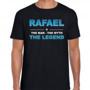 Bellatio Decorations Naam cadeau t-shirt Rafael - the legend zwart voor heren XL - Feestshirts