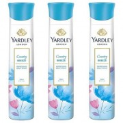 Yardley London Country Breeze Body Spray for Women 150ML Each Pack of 3