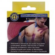 Bandagem Elástica Adesiva Rosa Ortho Pauher Classic Tape 5 Metros