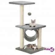 vidaXL Penjalica za mačke sa stupovima za grebanje od sisala 65 cm siva