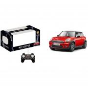 Auto a control remoto Mini cooper con baterias recargables, rojo
