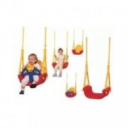 Leagan convertibil pentru copii 6 luni - 7 ani , 3 în 1 - Rosu cu Galben
