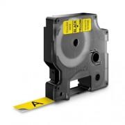 Dymo D1 DY45018 laminált feliratozószalag 12 mm fekete/sárga
