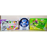 Play Design Ben 10 English Learner & Funny Musical Cow Piano & Dancing Robot 360 Rotating (Multicolor) Combo Pack