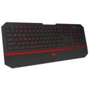 Клавиатура Redragon Karura, Гейминг, подсветка, мултимедийни бутони, USB, черна